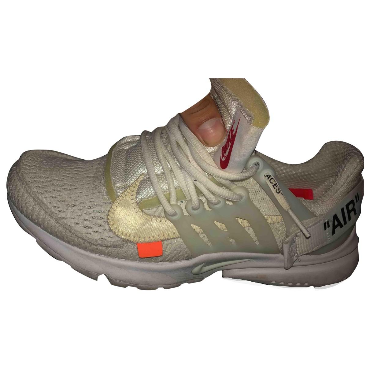 Nike X Off-white Air Presto White Cloth Trainers for Men 8 US