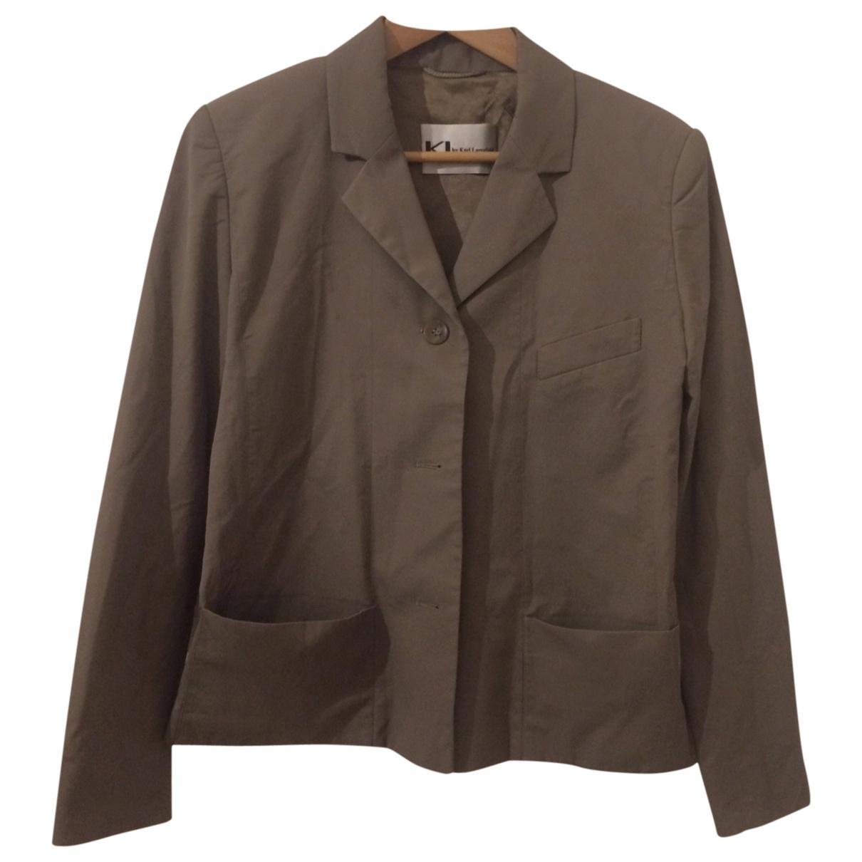 Karl Lagerfeld \N Beige Cotton jacket for Women 38 FR