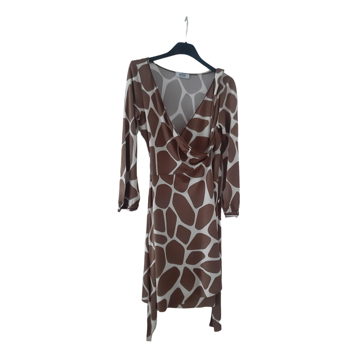 Moschino Cheap And Chic \N Kleid in  Kamel Seide
