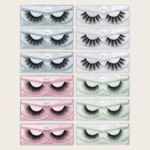 12pairs Volume Curly False Eyelashes
