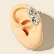 Cuff de oreja con perla artificial