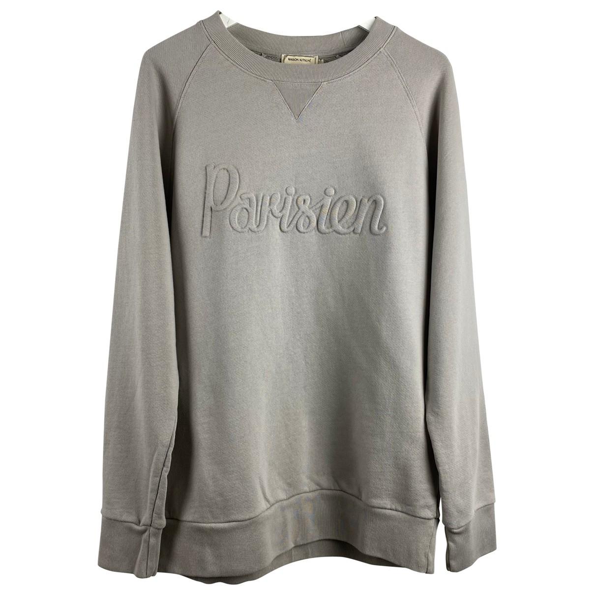 Maison Kitsune \N Pullover.Westen.Sweatshirts  in  Grau Baumwolle