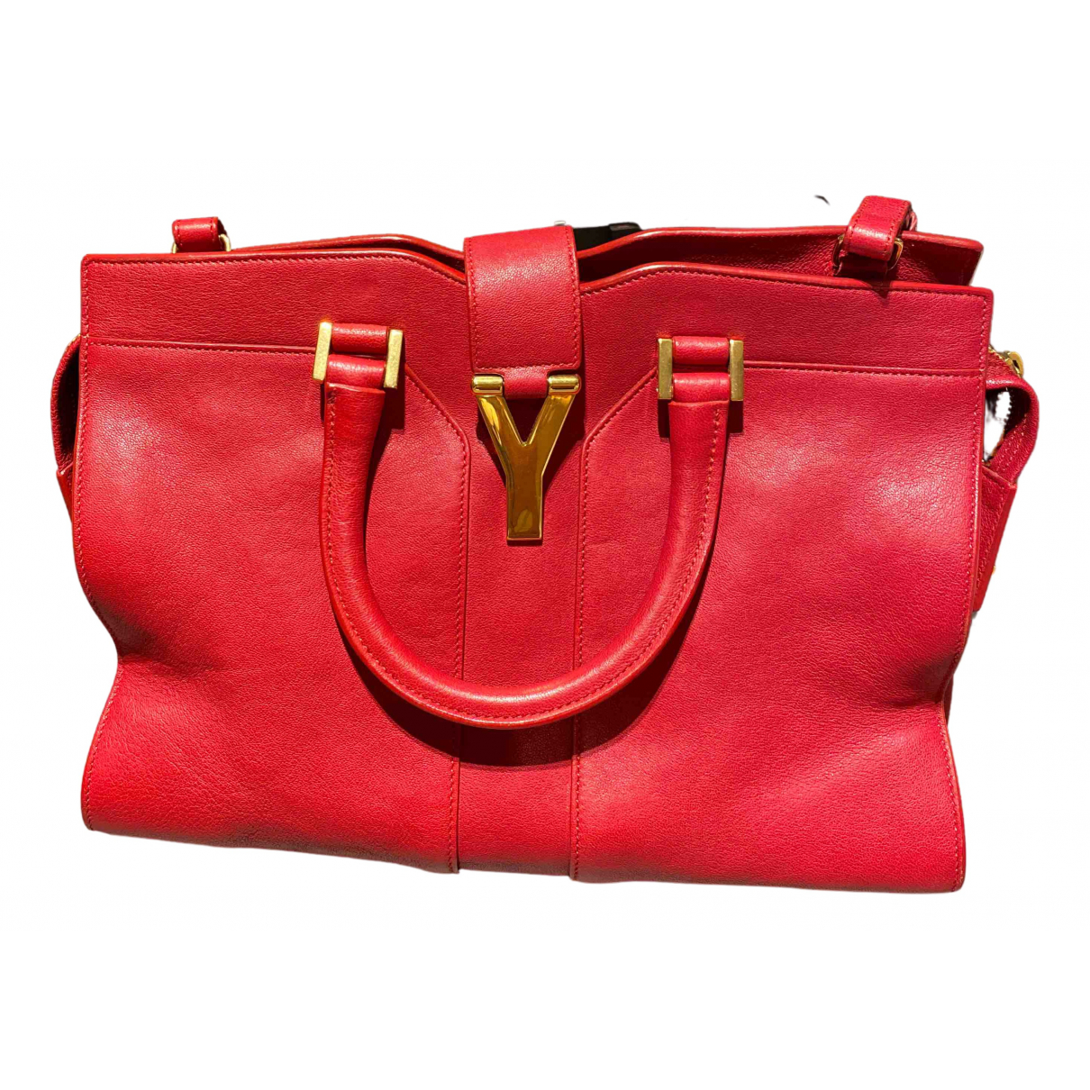 Yves Saint Laurent Chyc Red Leather handbag for Women N