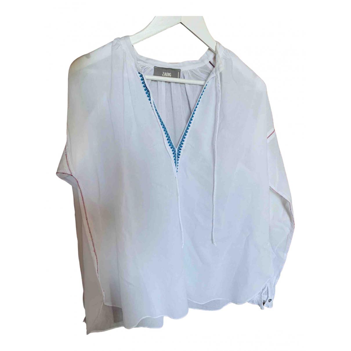 Zadig & Voltaire - Top   pour femme en coton - blanc