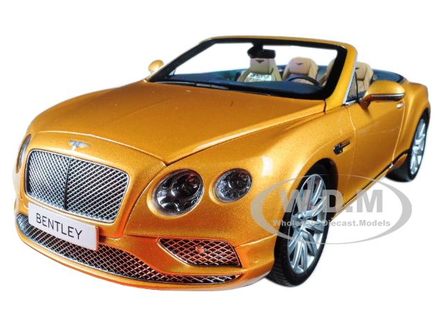 2016 Bentley Continental GT Convertible LHD Sunburst Gold 1/18 Diecast Model Car by Paragon