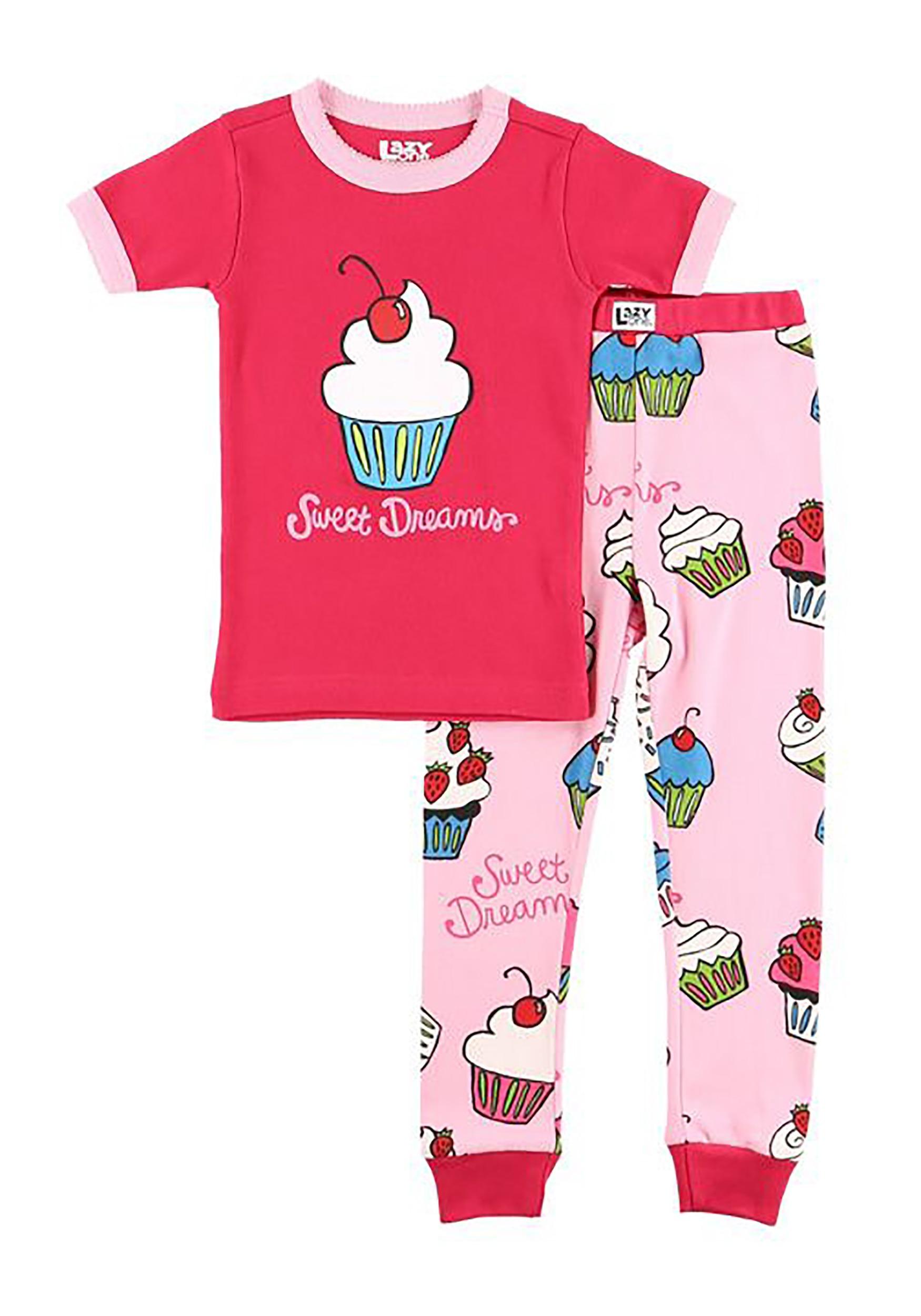 Girls Sweet Dreams Cupcake Short Sleeve Pajama Set