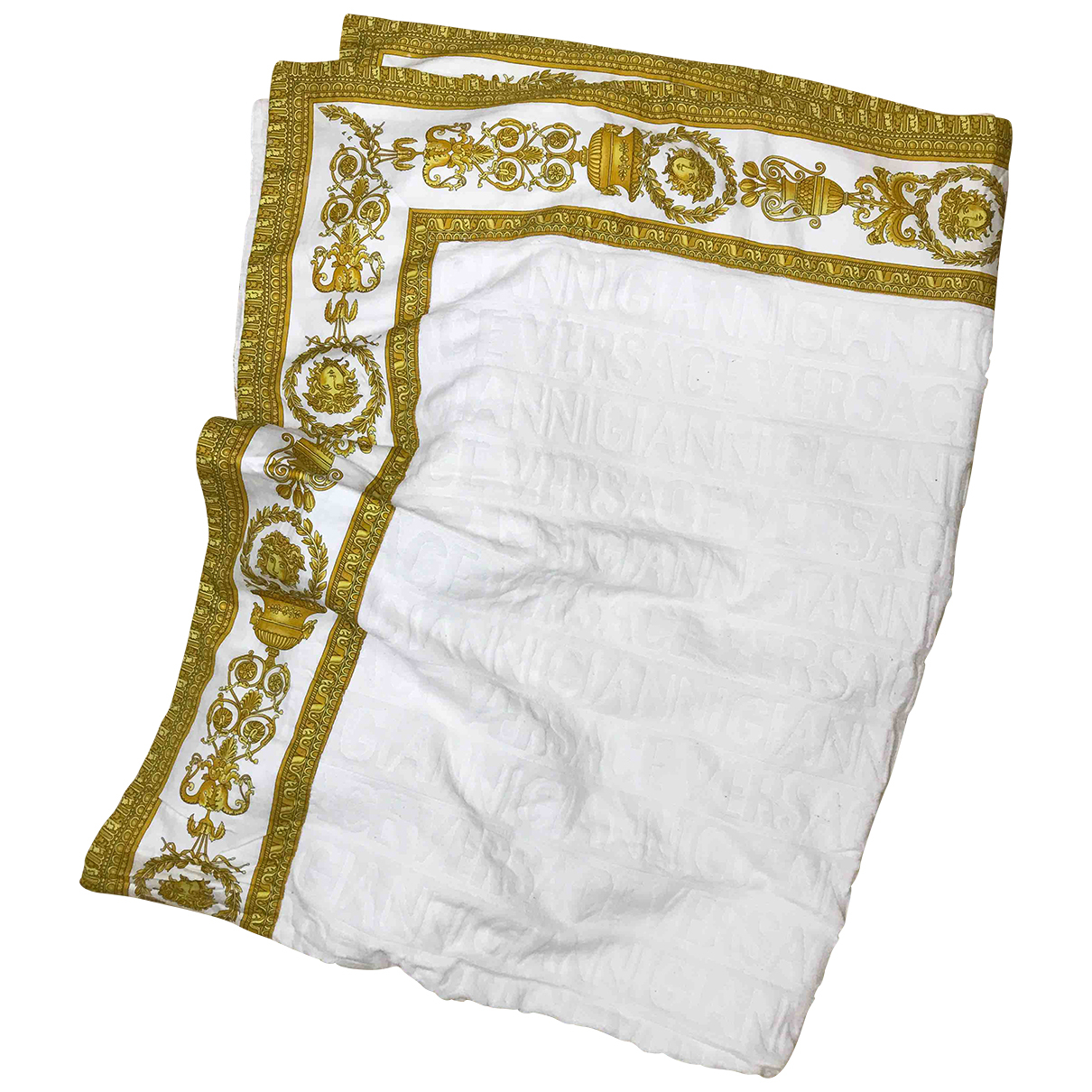 Versace - Bain   pour homme en coton - elasthane - blanc