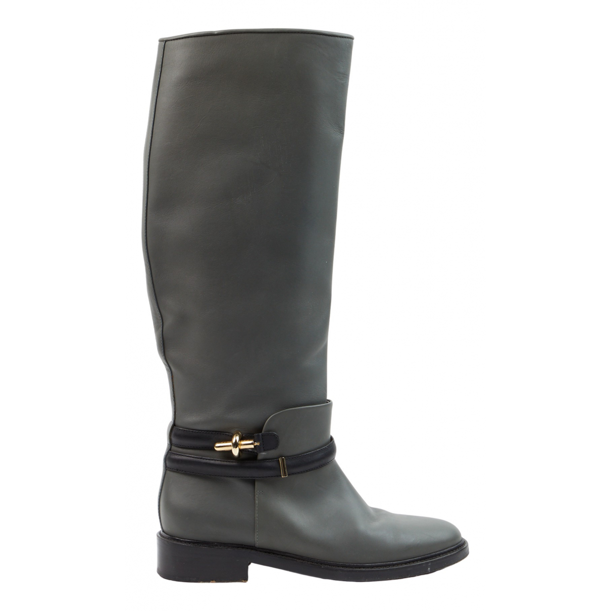 Balenciaga N Grey Leather Boots for Women 39 EU
