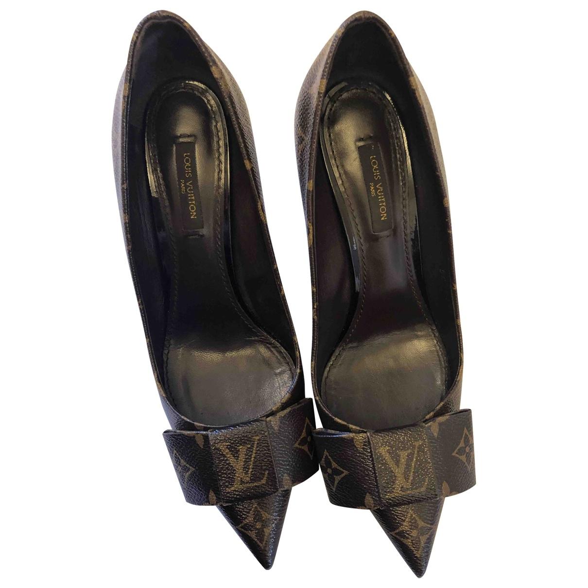 Louis Vuitton \N Cloth Heels for Women 39.5 EU