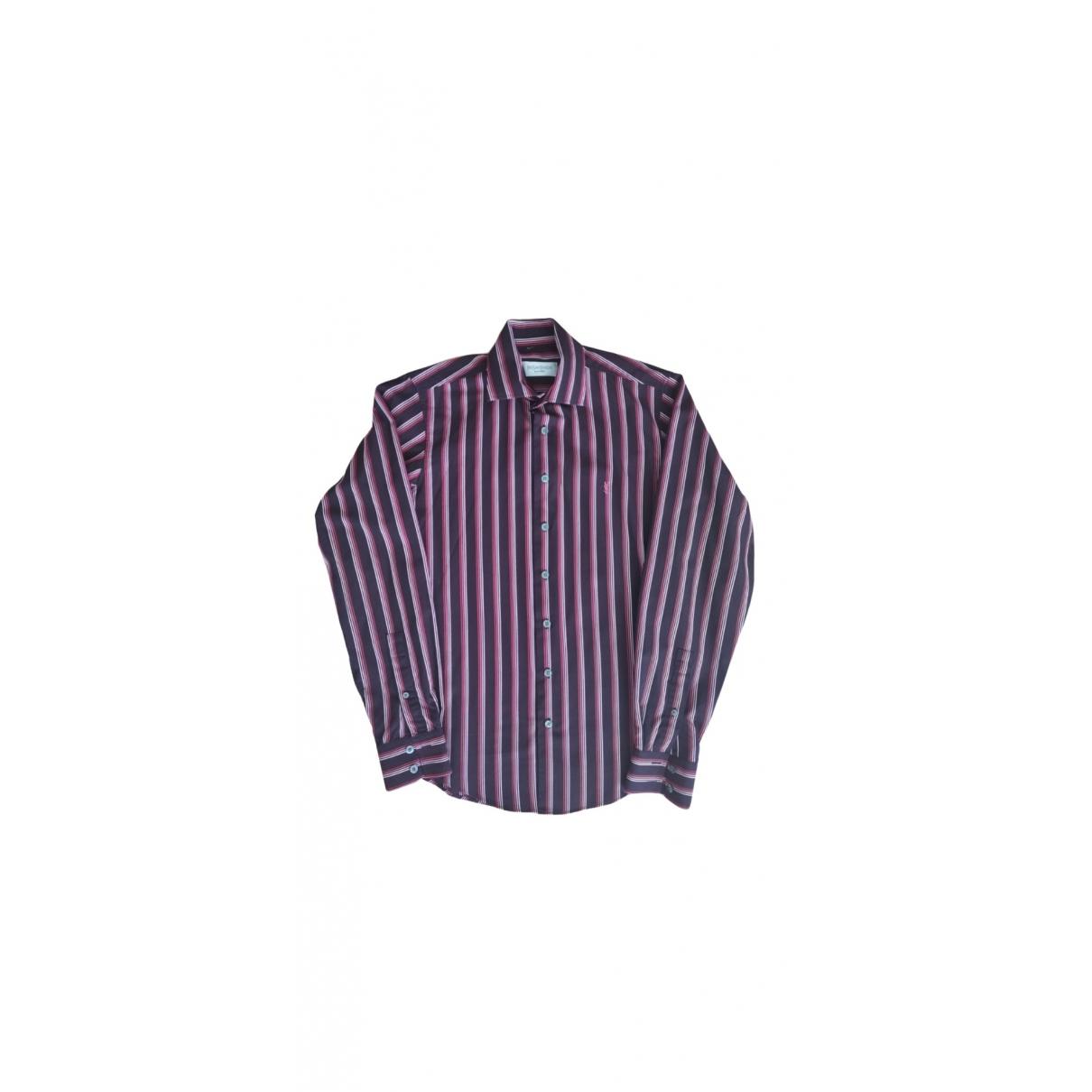 Yves Saint Laurent \N Burgundy Cotton Shirts for Men S International