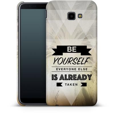 Samsung Galaxy J4 Plus Smartphone Huelle - Be Yourself von Statements
