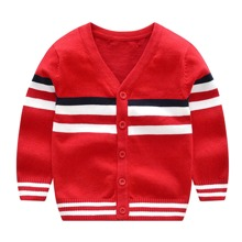 Toddler Boys Striped Button Up Cardigan