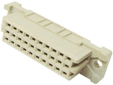 HARTING 20 Way 2.54mm Pitch, Type 3C Class C2, 3 Row, Straight DIN 41612 Connector, Socket