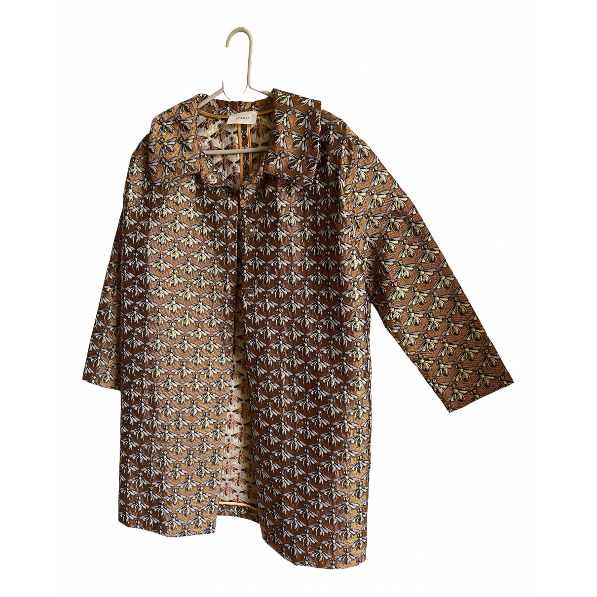 Vicolo \N Jacke in  Gold Polyester