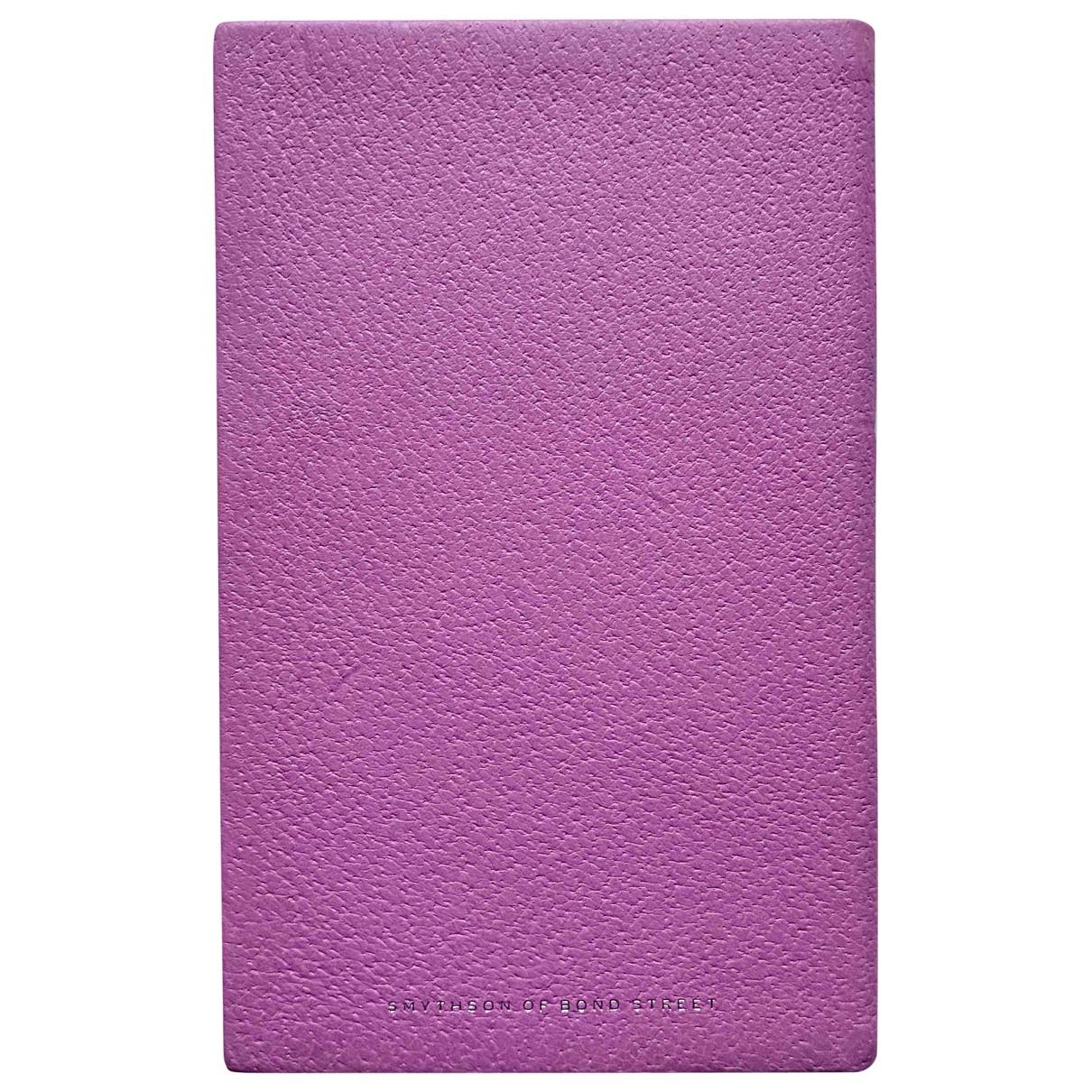 Smythson - Objets & Deco   pour lifestyle en cuir - rose
