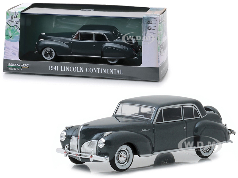 1941 Lincoln Continental Cotswold Gray Metallic 1/43 Diecast Model Car by Greenlight
