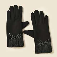 Lace Detail Gloves
