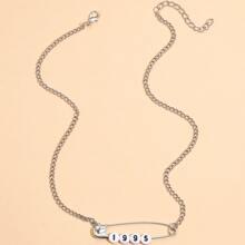Halskette mit Sicherheitsnadel Dekor