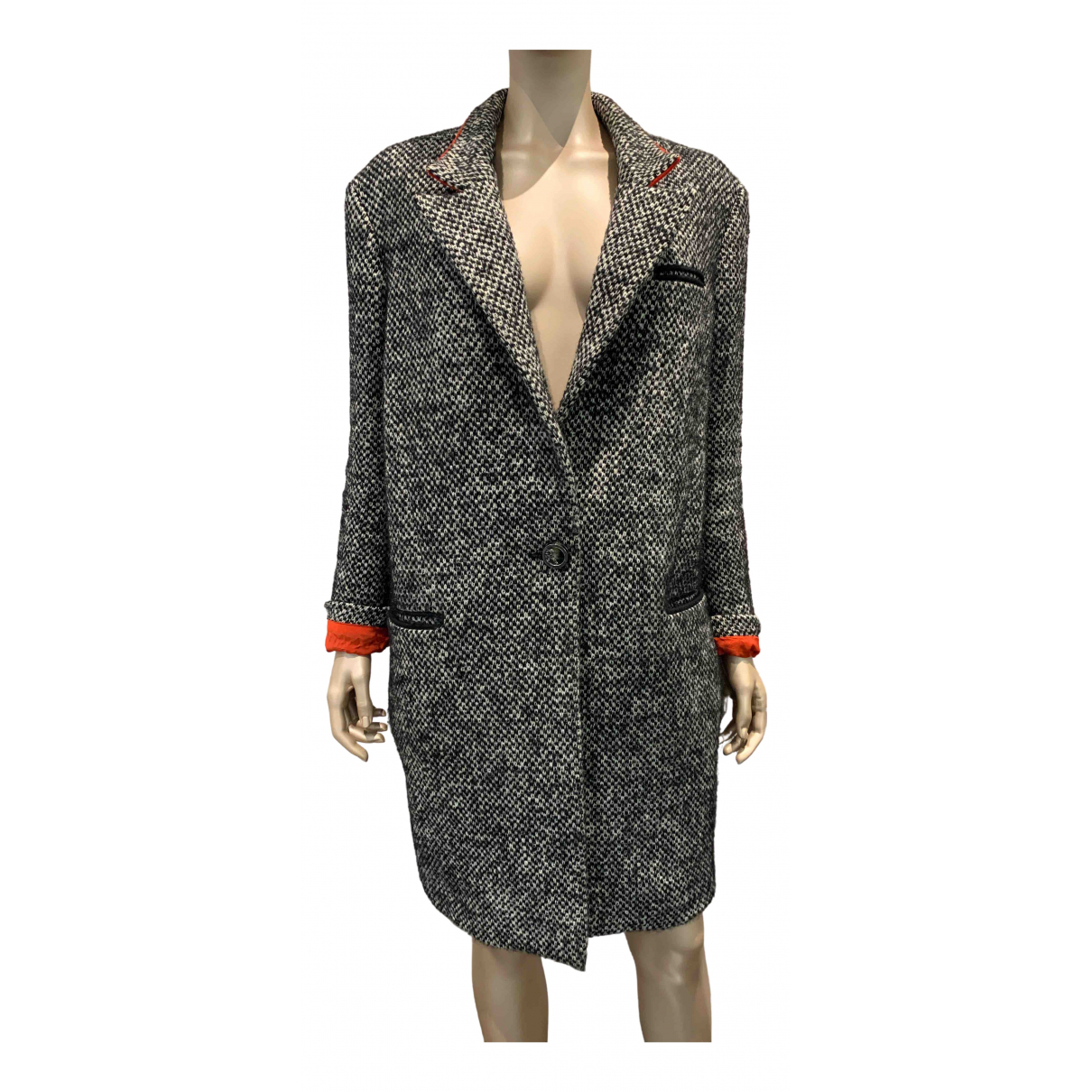 Versace \N Grey Wool coat for Women 46 IT