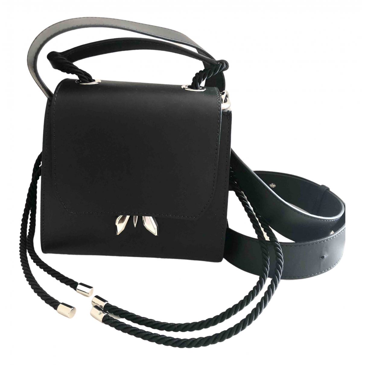 Patrizia Pepe \N Black Leather handbag for Women \N
