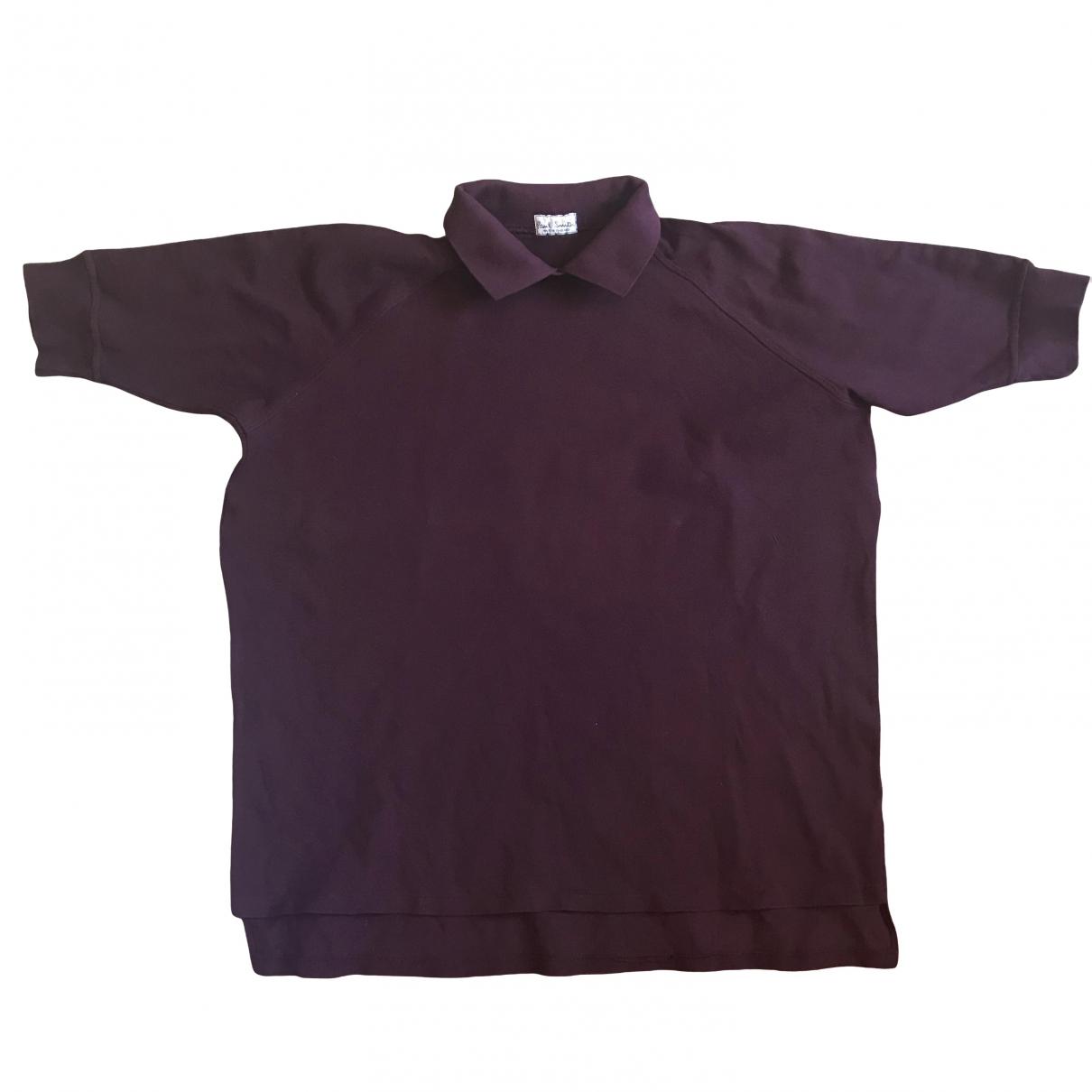 Paul Smith - Polos   pour homme en coton - bordeaux