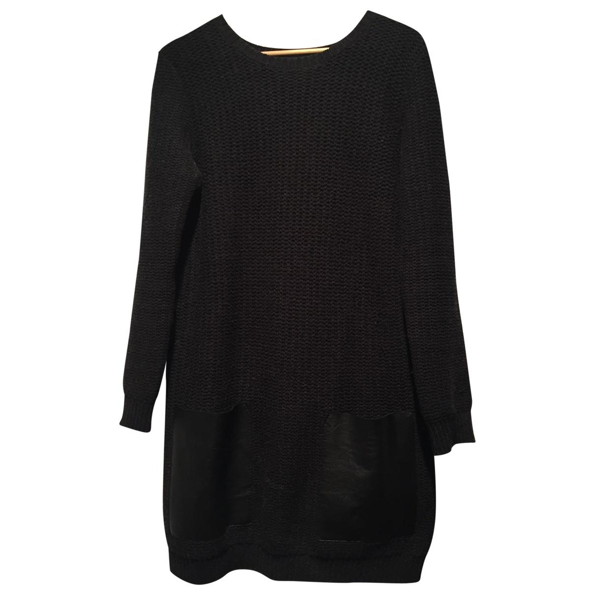 Cos - Robe   pour femme en laine - anthracite