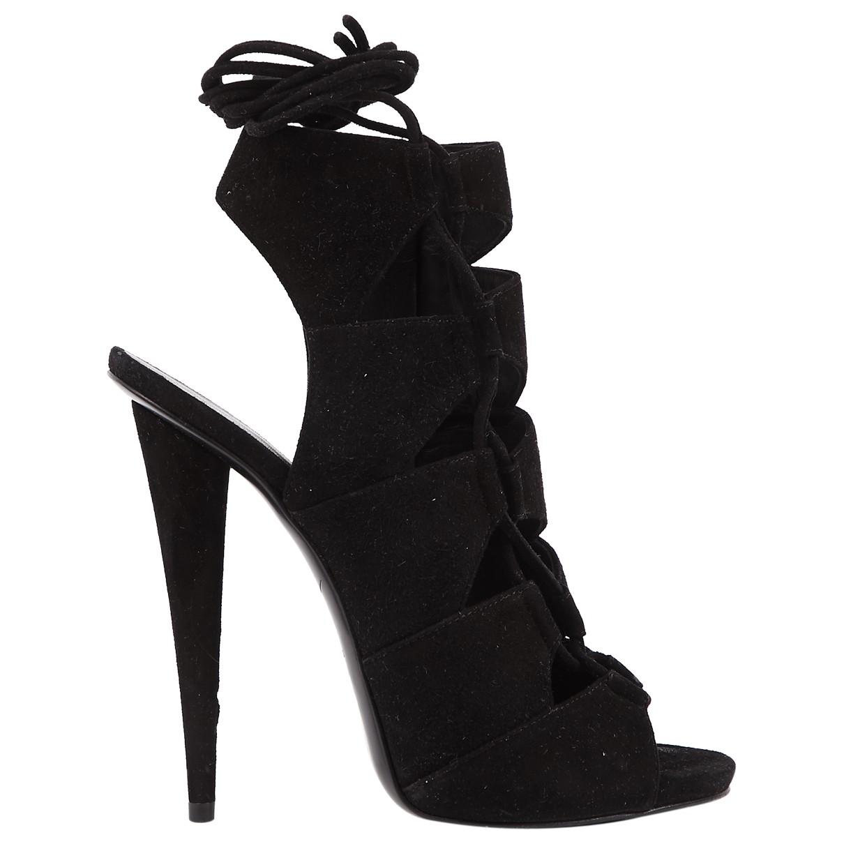 Giuseppe Zanotti \N Black Suede Heels for Women 37.5 EU