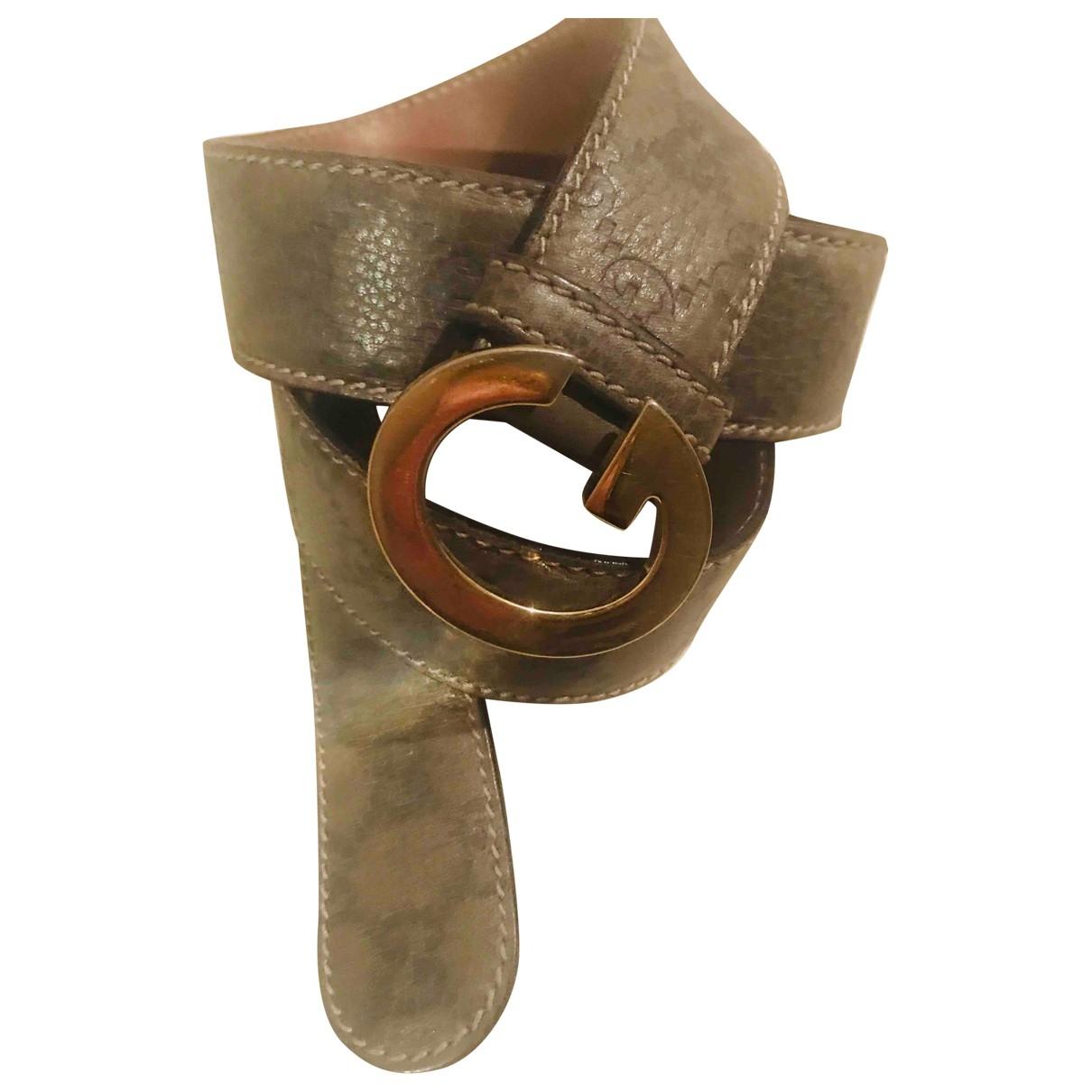 Gucci \N Grey Leather belt for Women S International