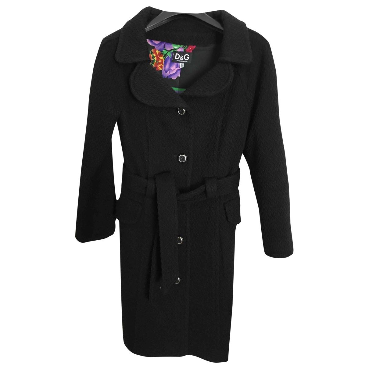 D&g \N Black Wool coat for Women 44 IT