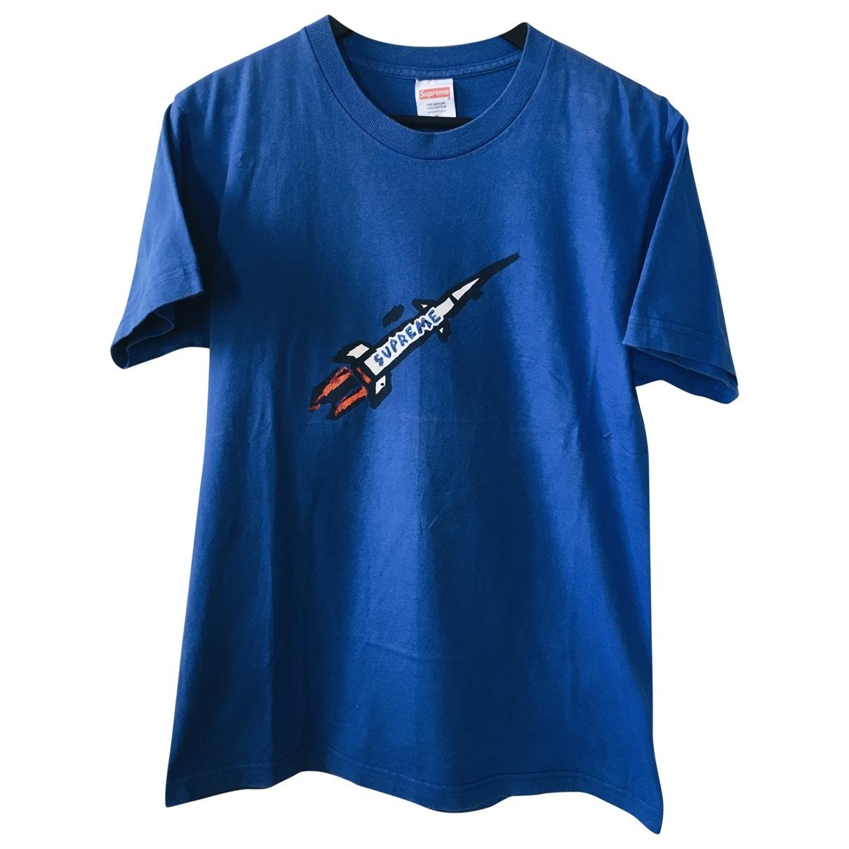 Supreme \N Blue Cotton T-shirts for Men M International