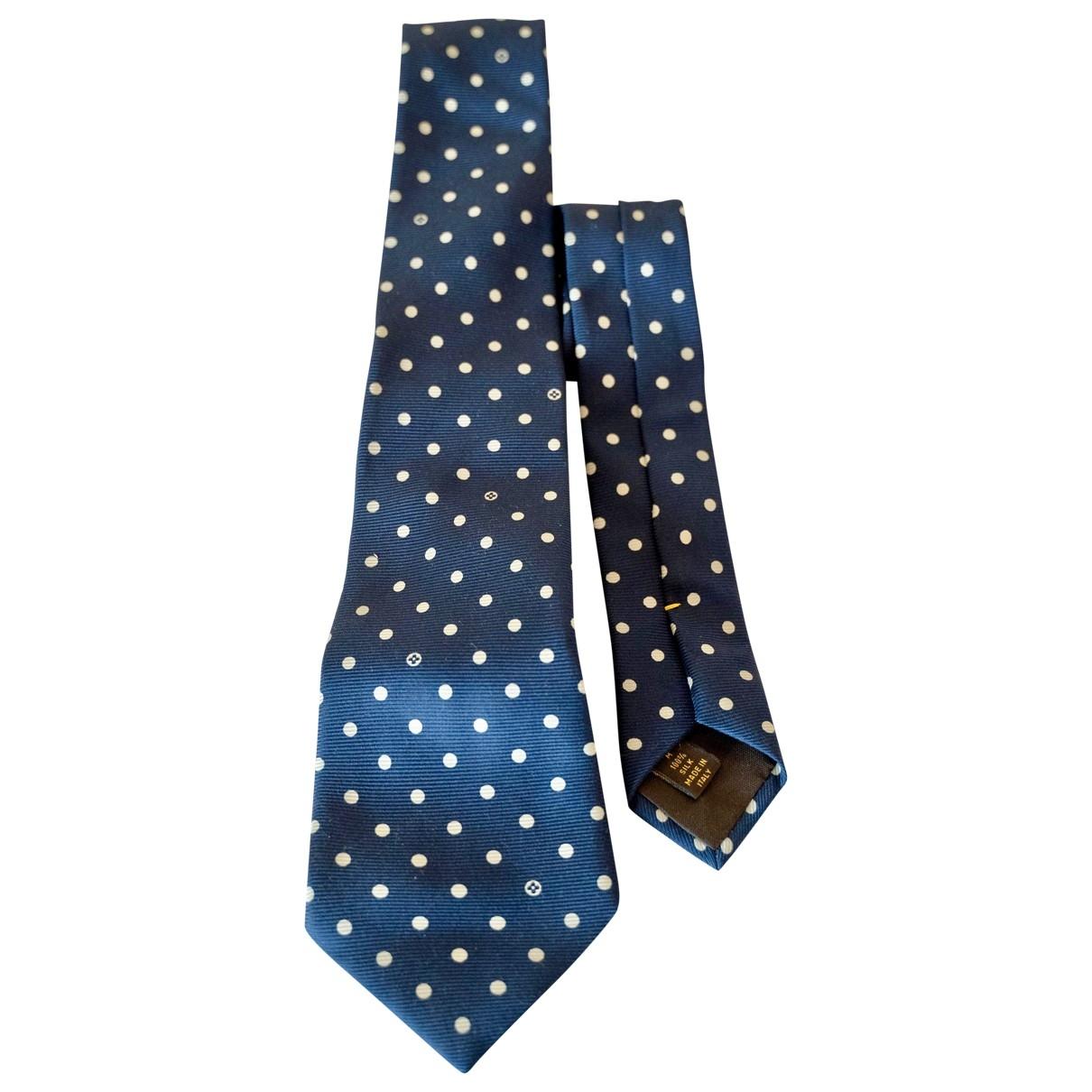 Louis Vuitton \N Krawatten in  Marine Seide