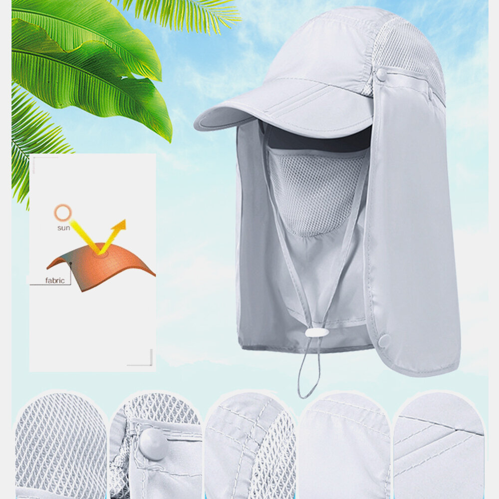 Unisex Foldable Sunscreen Fisherman Hat Sunscreen Mountaineering Quick Dry Fishing Hat