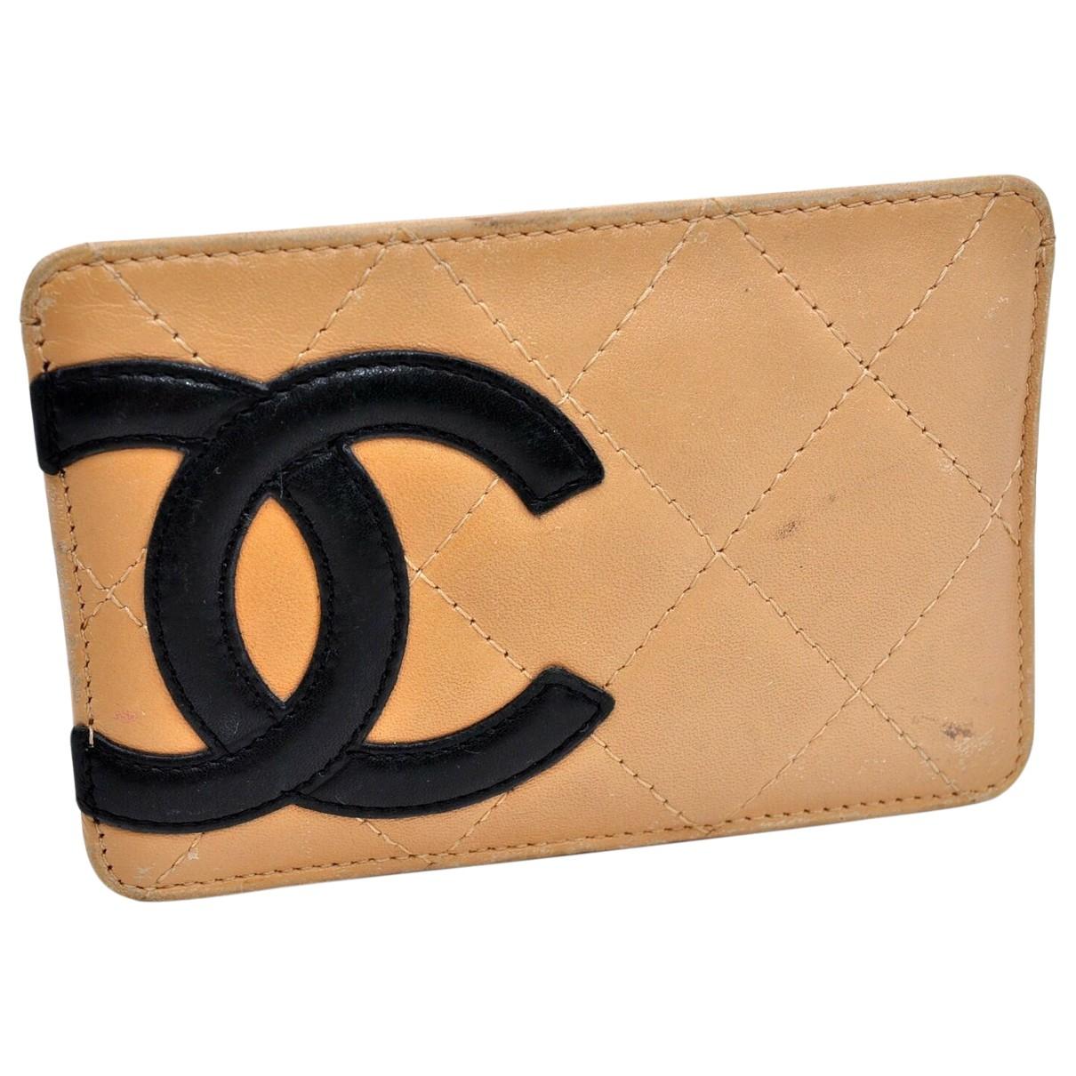 Chanel - Petite maroquinerie Cambon pour femme en cuir - beige