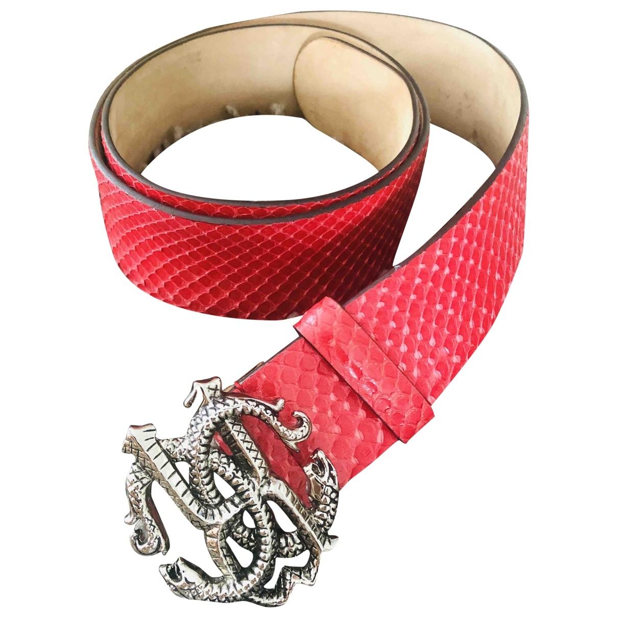 Cinturon de Cueros exoticos Roberto Cavalli