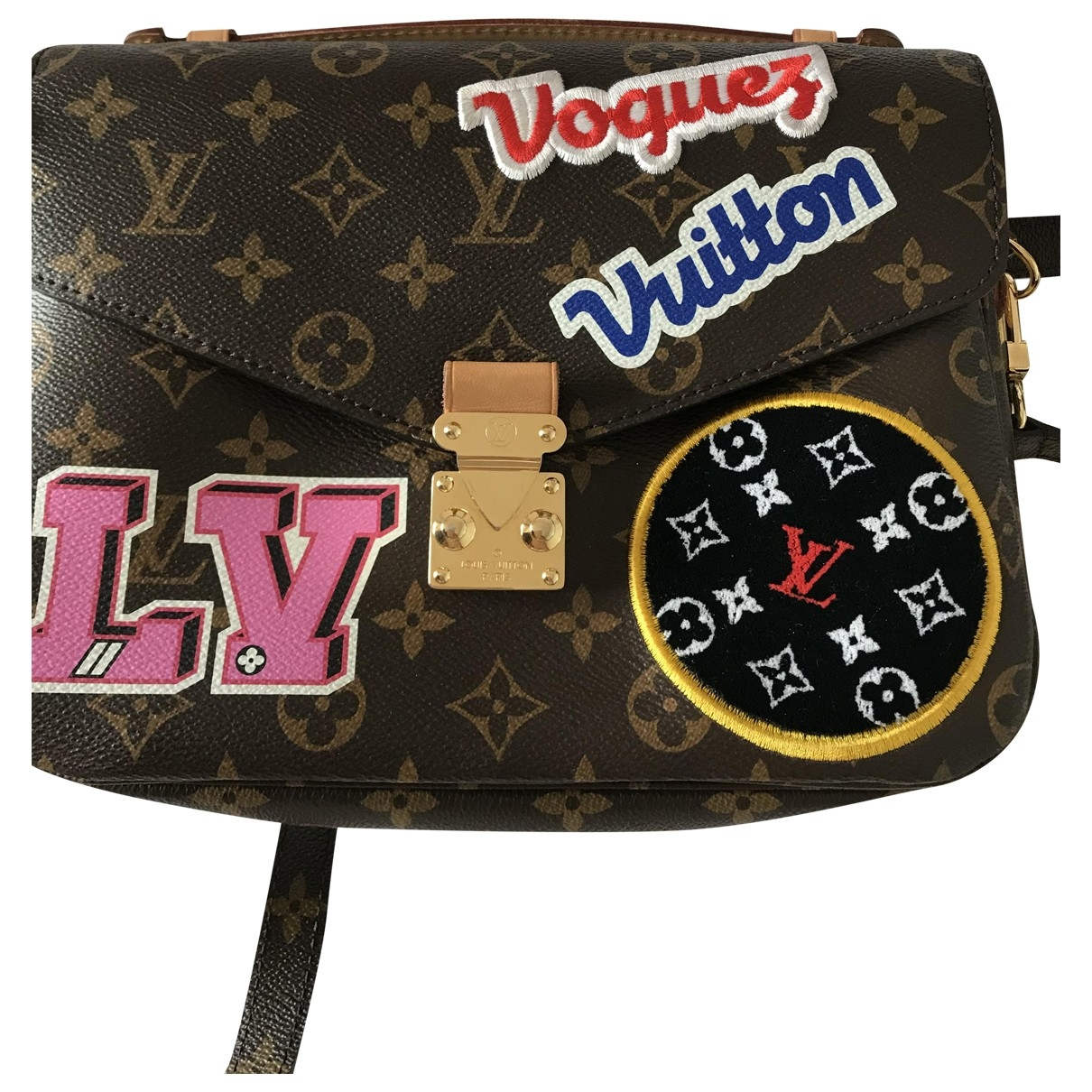 Louis Vuitton Metis Handtasche in  Braun Leinen