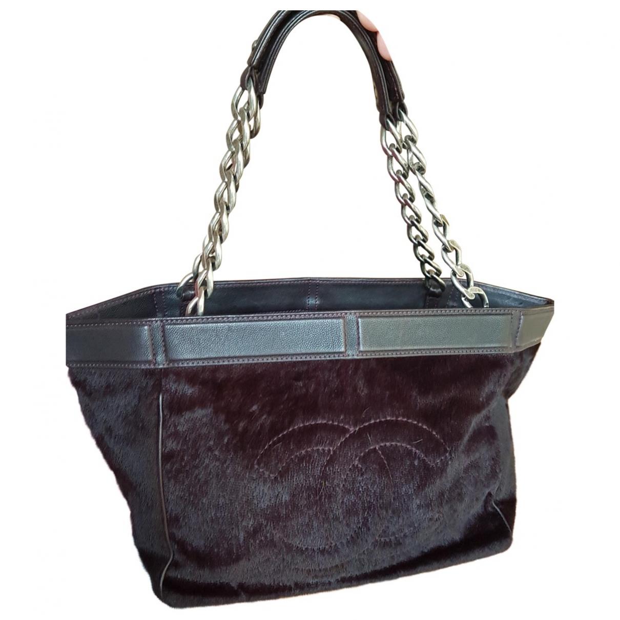 Chanel \N Purple Pony-style calfskin handbag for Women \N