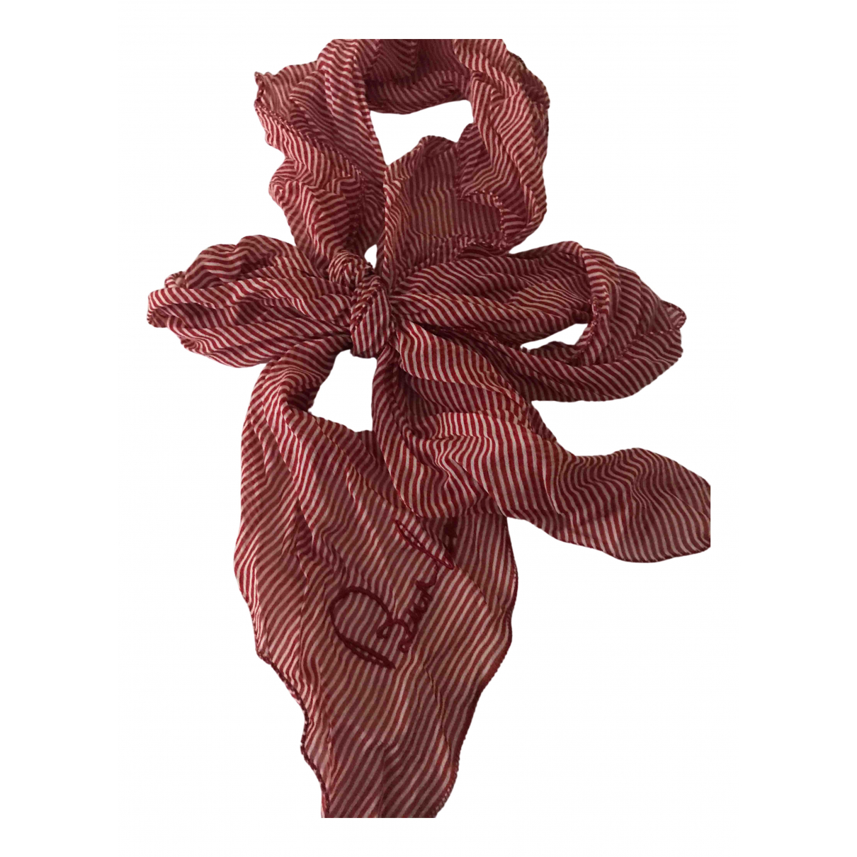 Burberry \N Red Silk scarf for Women \N