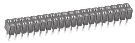 Samtec , CES 2.54mm Pitch 40 Way 2 Row Straight PCB Socket, Through Hole, Through Hole Termination