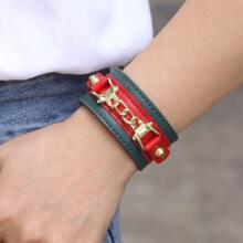 PU Leder Armband mit Metall Dekor