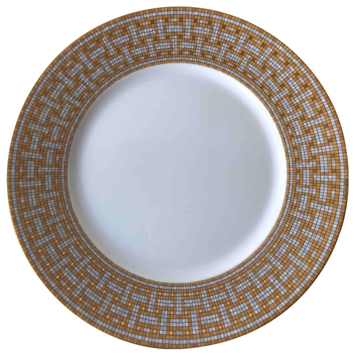 Hermes - Arts de la table Mosaique au 24 pour lifestyle en ceramique - dore