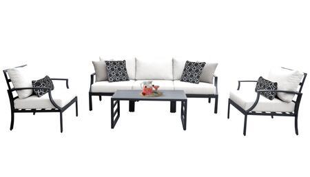 Lexington LEXINGTON-06r-WHITE 6-Piece Aluminum Patio Set 06r with 2 Club Chairs  1 Armless Chair  1 Left Arm Chair  1 Right Arm Chair and 1 Coffee