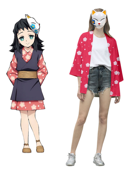 Milanoo Demon Slayer Kimetsu No Yaiba Makomo Kimono Only Anime Cosplay Costume