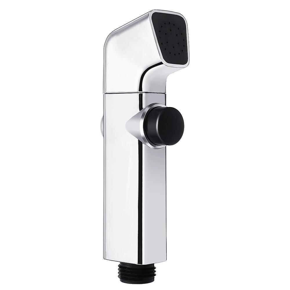 ABS Bathroom Portable Bidet Sprayer Handheld Toilet Bidet Shower Head Sprayer w/ Button for Personal Hygiene