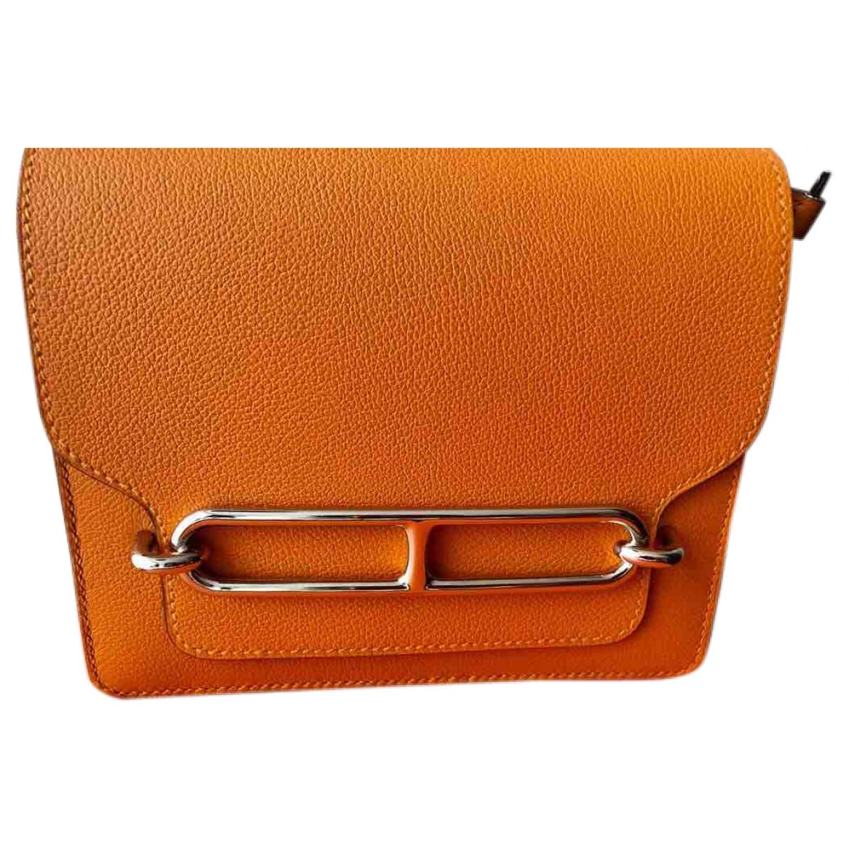 Hermès Roulis Orange Leather handbag for Women \N
