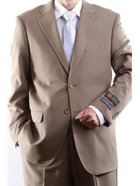Men's 2 Button Single Breasted 100% Polyester Fully Lined Dress Suit