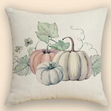 Pumpkin Print Cushion Cover Without Filler