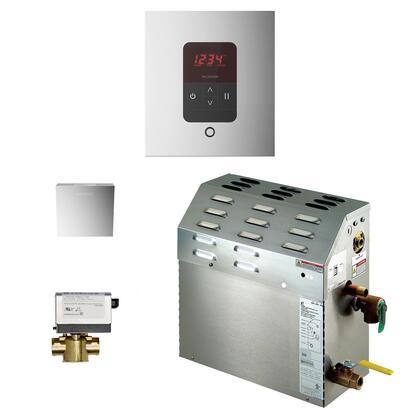 400C1ATSQPC 9kW Steam Bath Generator with iTempo AutoFlush Square Package in Polished