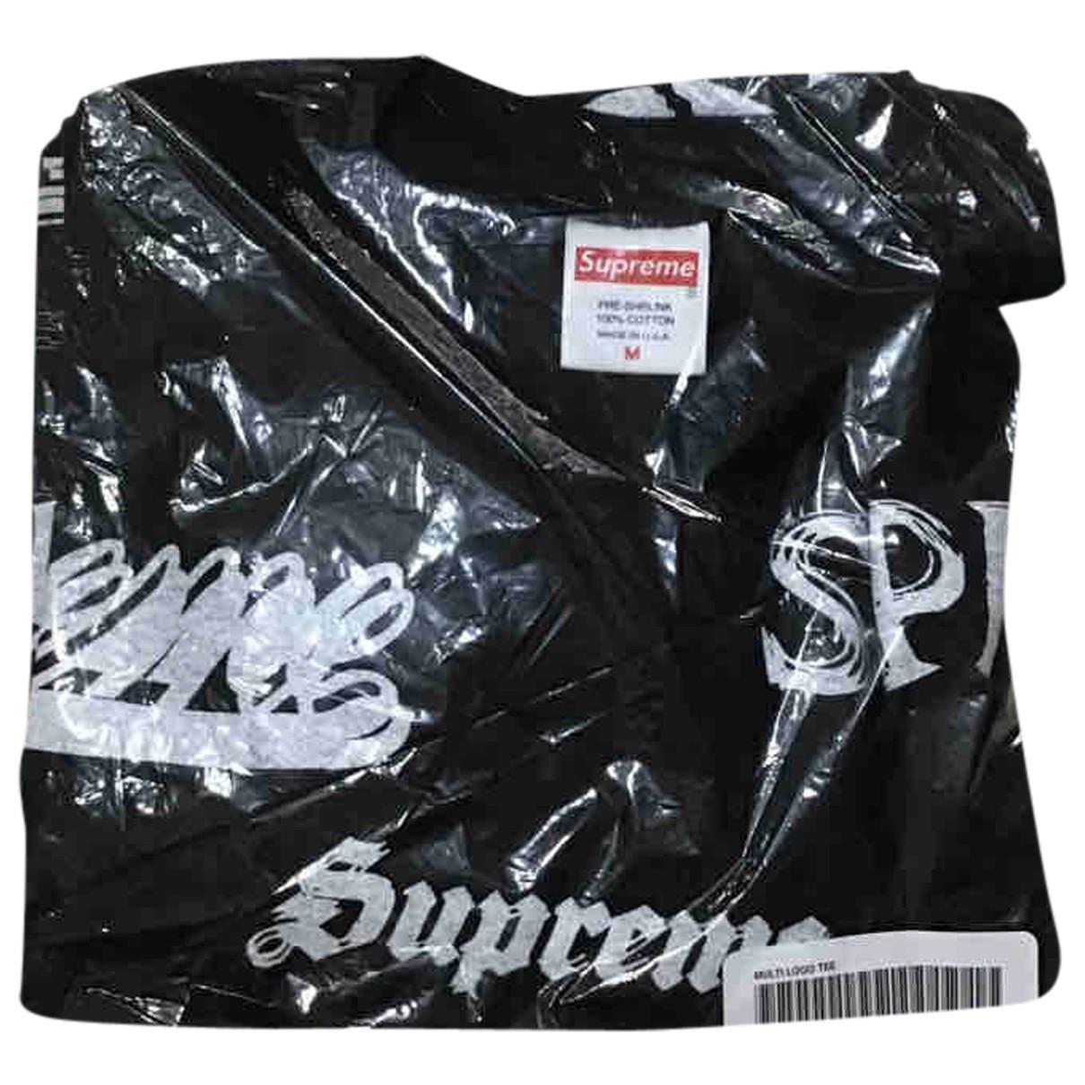 Supreme \N T-Shirts in  Schwarz Baumwolle