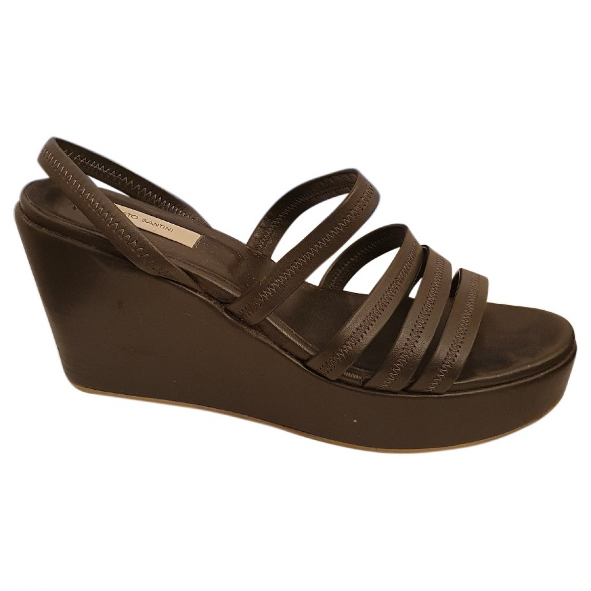 Fausto Santini \N Grey Leather Mules & Clogs for Women 40 EU