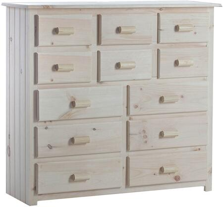 Carlisle Collection 85514619-CS-UNI 51 Cabin Dresser with 12 Drawers  Square Shape  Wood Base in